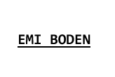 EMI BODEN